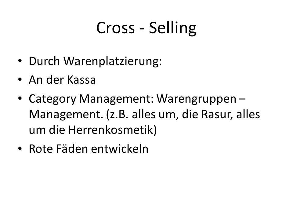 Cross - Selling Durch Warenplatzierung: An der Kassa