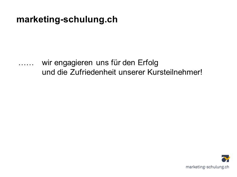 marketing-schulung.ch …… wir engagieren uns für den Erfolg