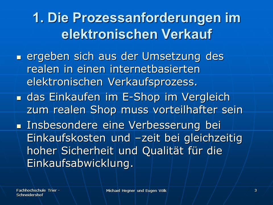 1. Die Prozessanforderungen im elektronischen Verkauf