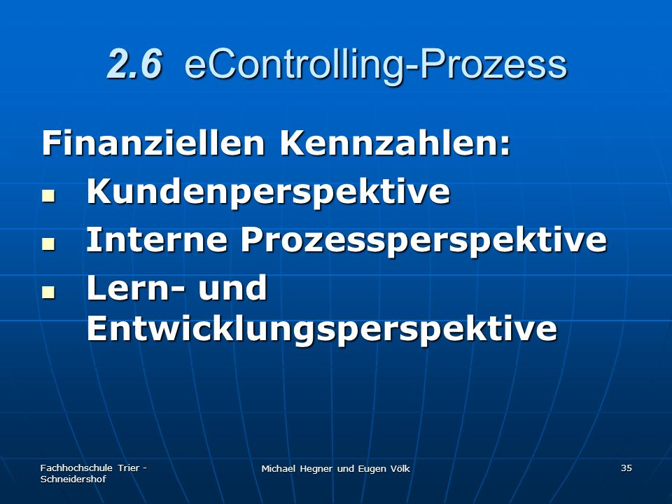 2.6 eControlling-Prozess
