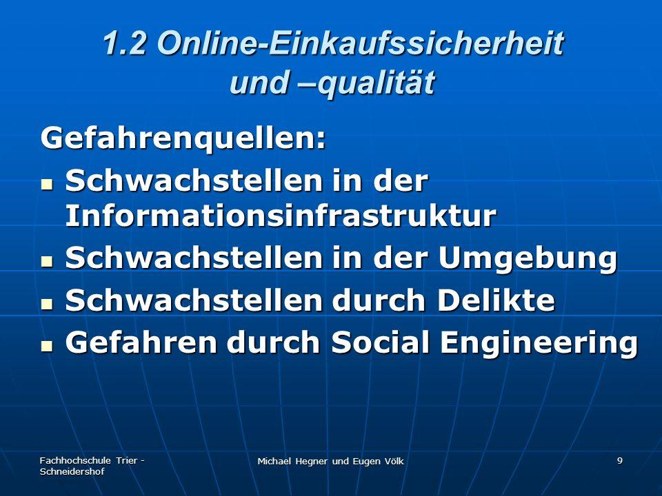 1.2 Online-Einkaufssicherheit und –qualität