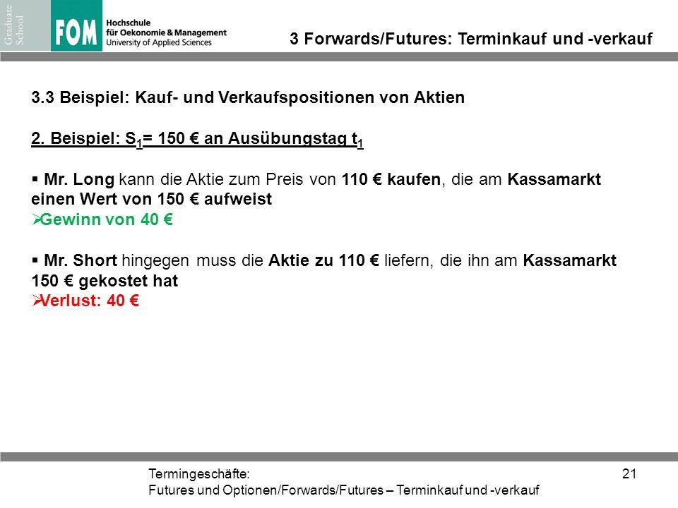 3 Forwards/Futures: Terminkauf und -verkauf