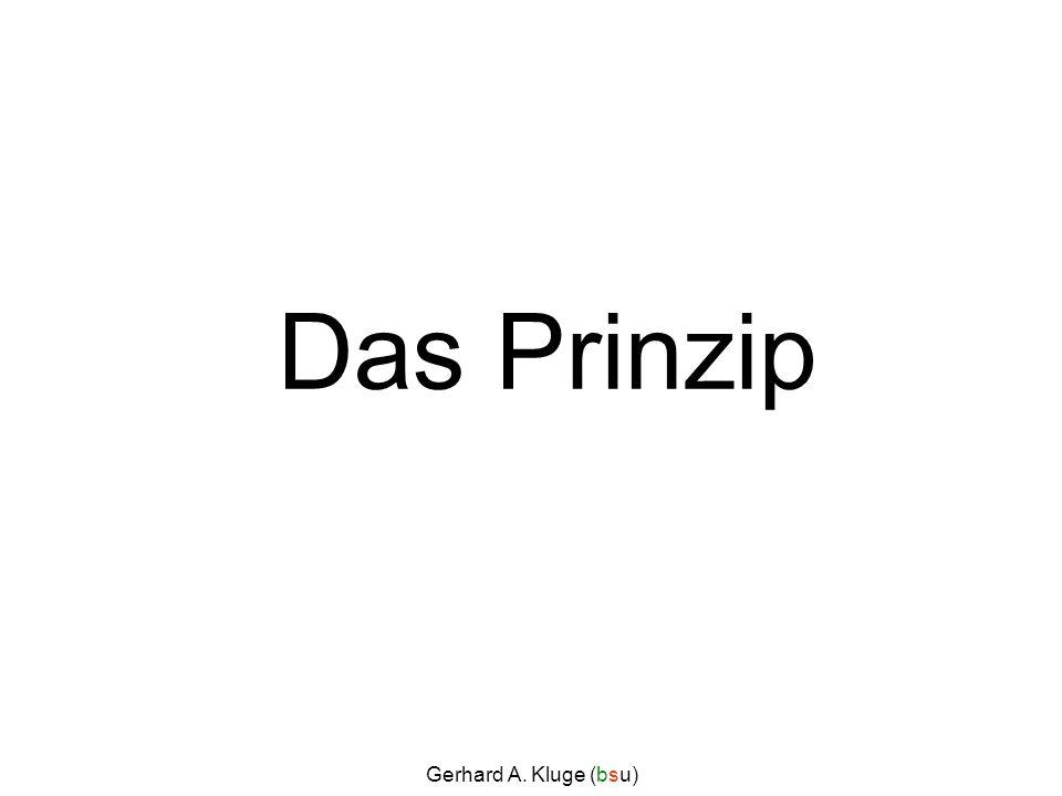 Das Prinzip Gerhard A. Kluge (bsu)