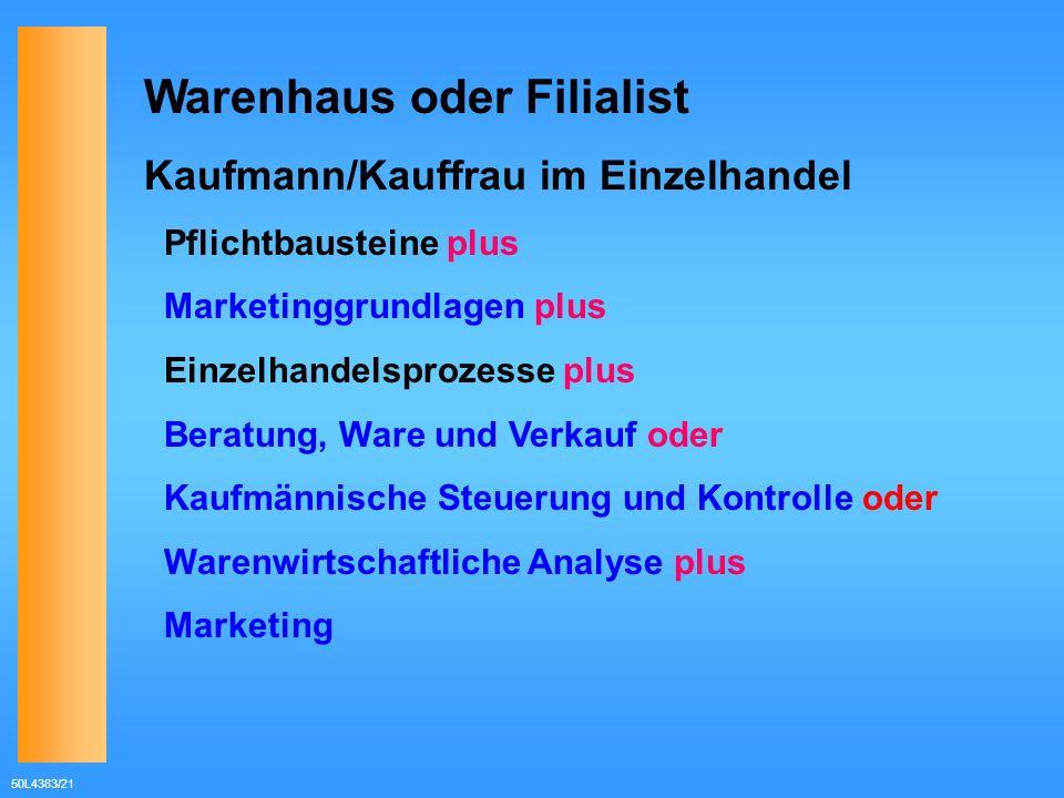 Warenhaus oder Filialist