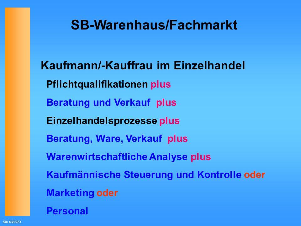Kaufmann/-Kauffrau im Einzelhandel