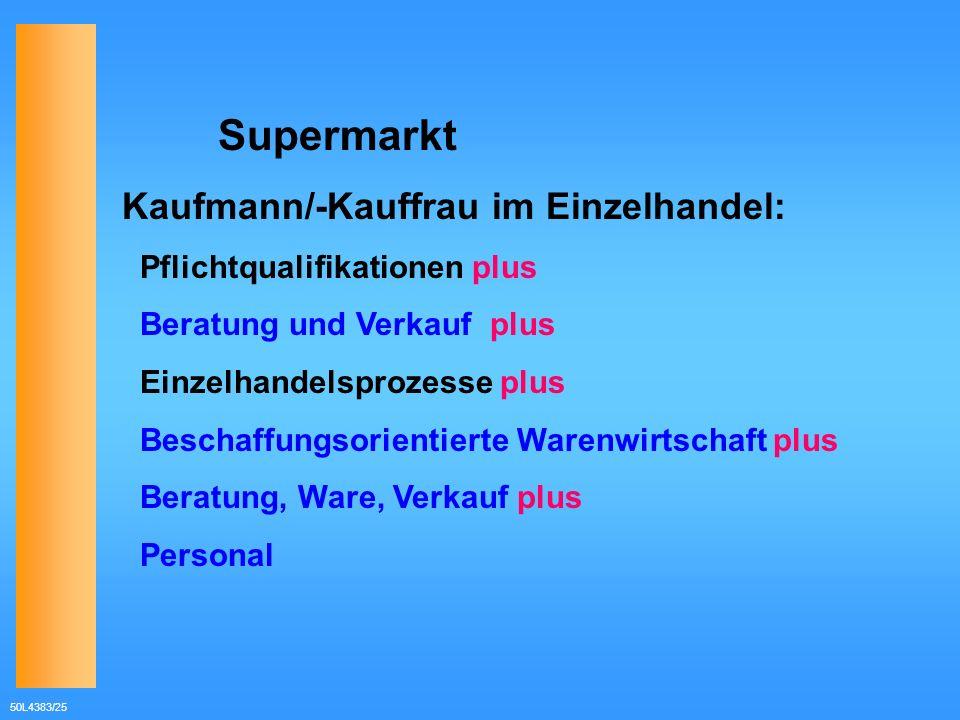 Kaufmann/-Kauffrau im Einzelhandel: