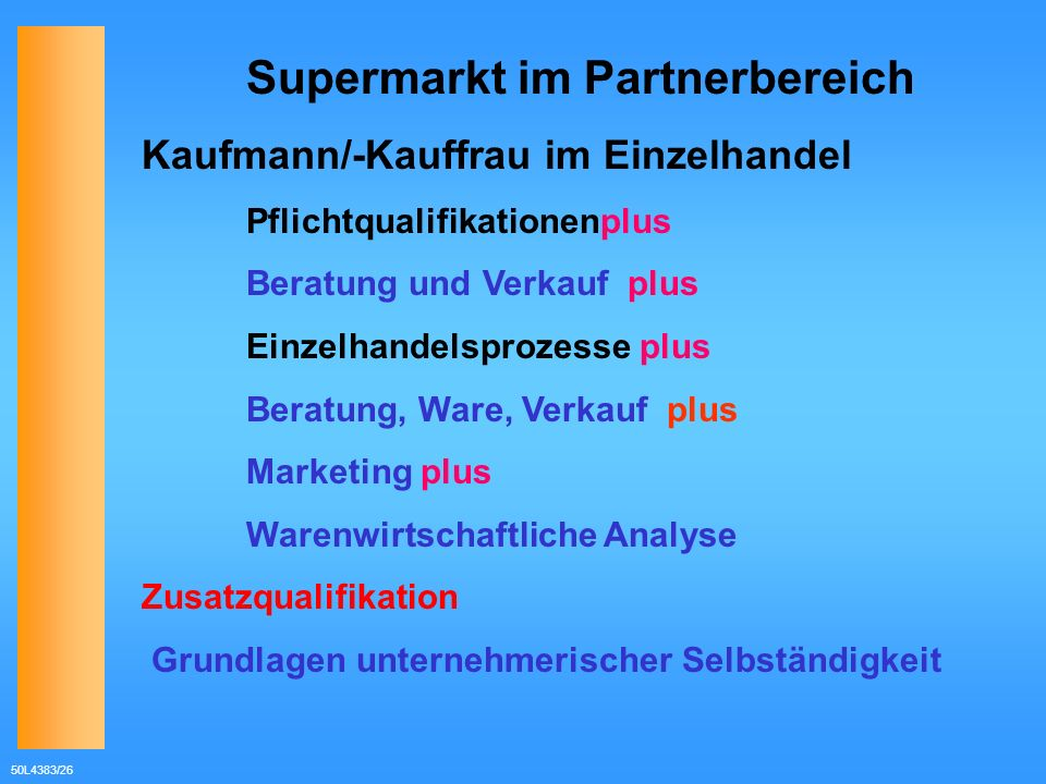 Supermarkt im Partnerbereich