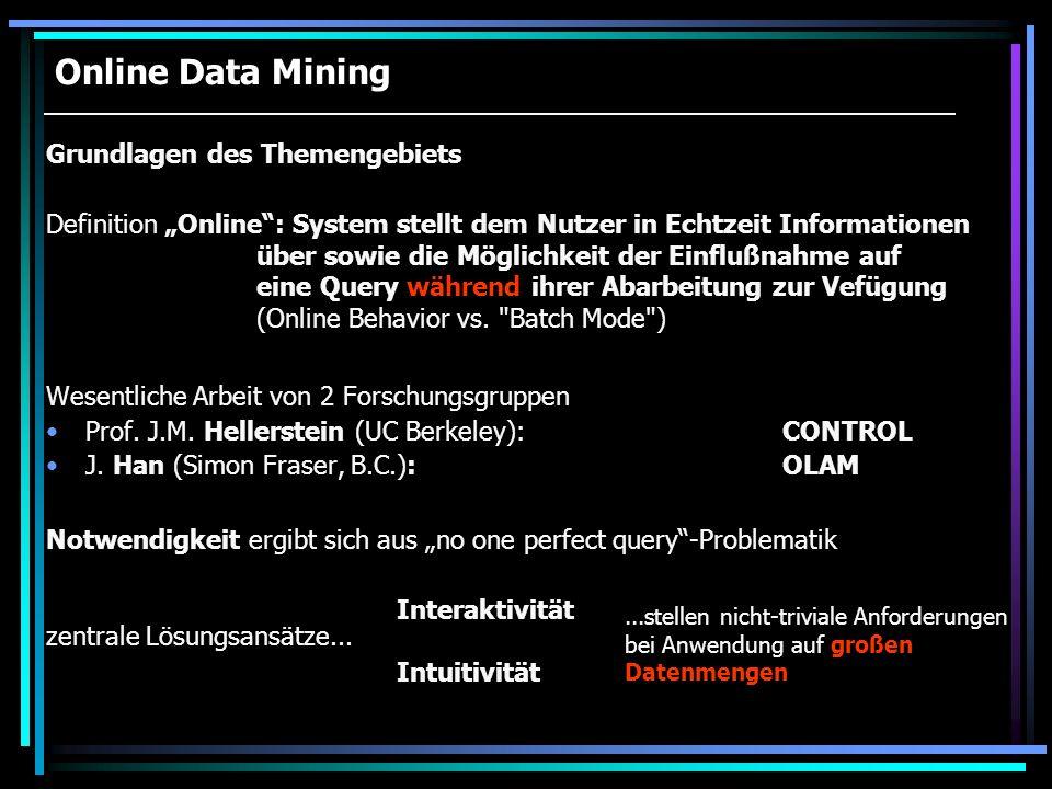 Online Data Mining Grundlagen des Themengebiets