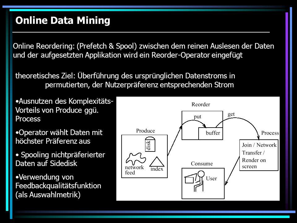 Online Data Mining
