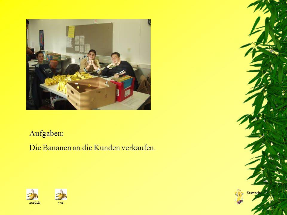 Die Bananen an die Kunden verkaufen.