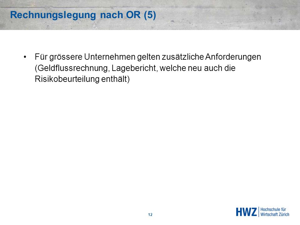 Rechnungslegung nach OR (5)