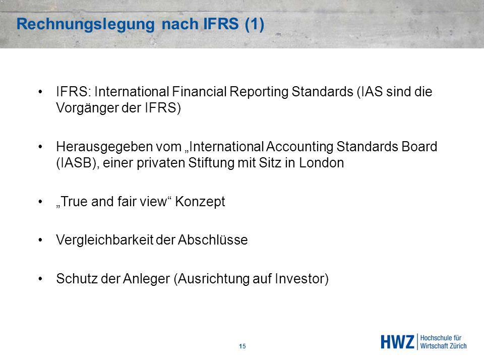 Rechnungslegung nach IFRS (1)