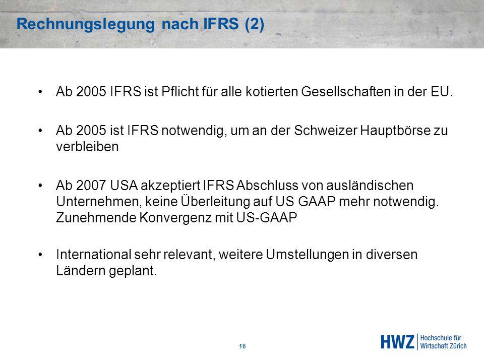 Rechnungslegung nach IFRS (2)