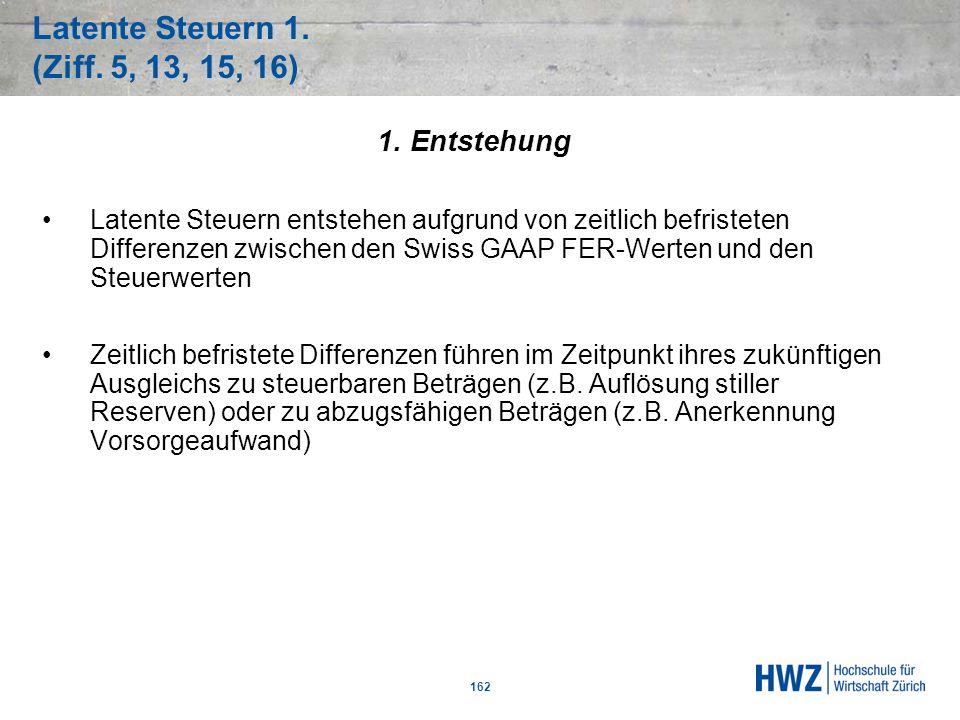 Latente Steuern 1. (Ziff. 5, 13, 15, 16)