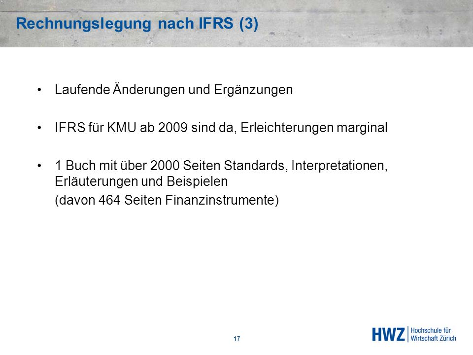 Rechnungslegung nach IFRS (3)