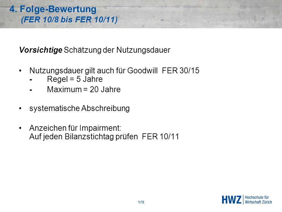 4. Folge-Bewertung (FER 10/8 bis FER 10/11)