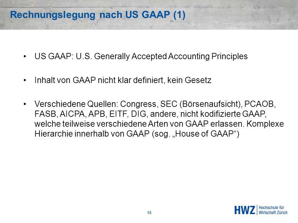 Rechnungslegung nach US GAAP (1)