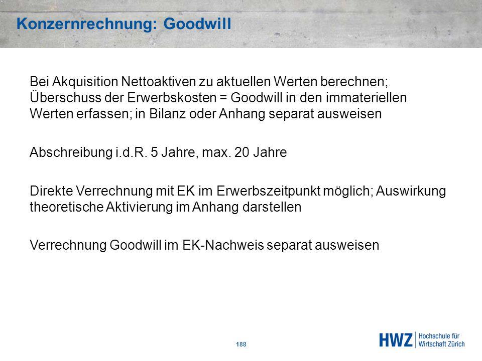 Konzernrechnung: Goodwill