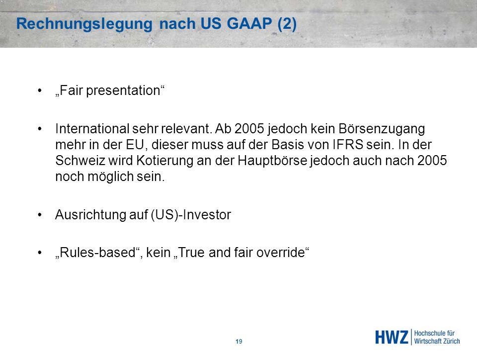 Rechnungslegung nach US GAAP (2)