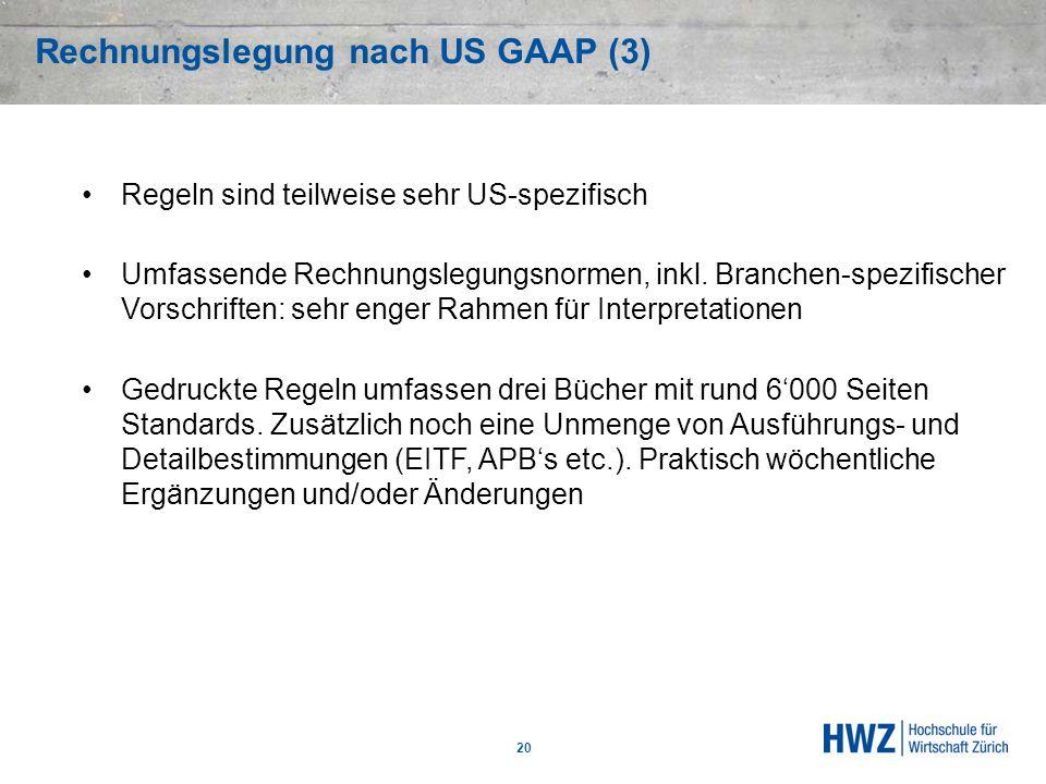 Rechnungslegung nach US GAAP (3)