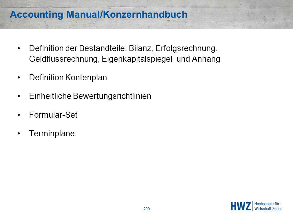 Accounting Manual/Konzernhandbuch