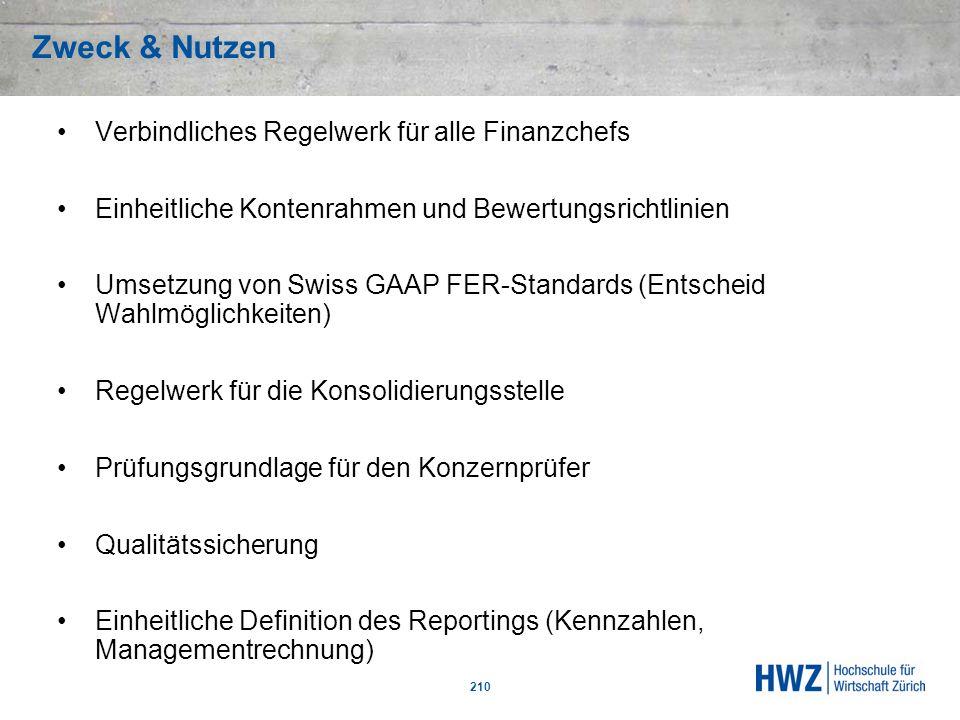 Zweck & Nutzen Verbindliches Regelwerk für alle Finanzchefs