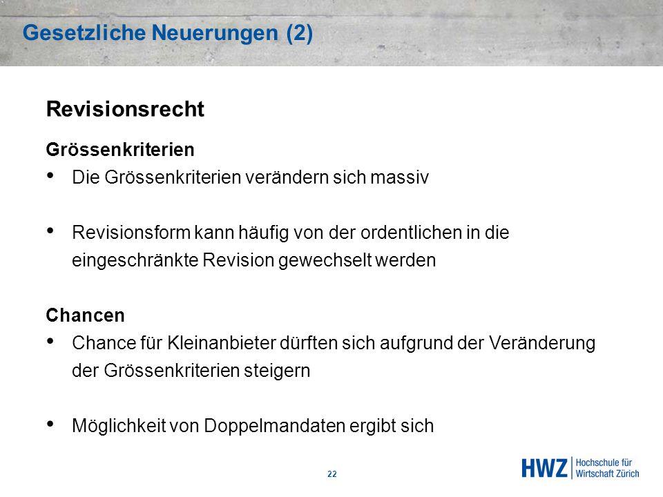 Gesetzliche Neuerungen (2)