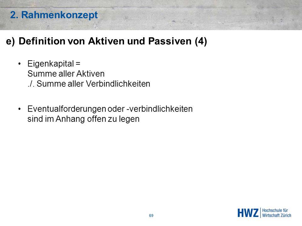 e) Definition von Aktiven und Passiven (4)