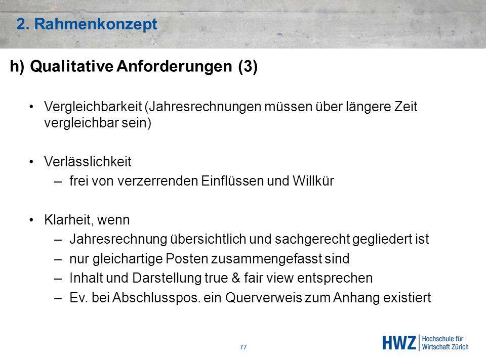 h) Qualitative Anforderungen (3)