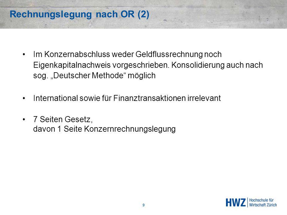 Rechnungslegung nach OR (2)