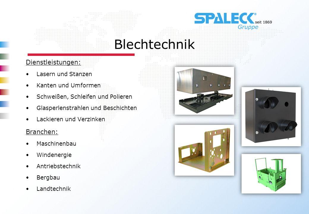 Blechtechnik Dienstleistungen: Branchen: Lasern und Stanzen