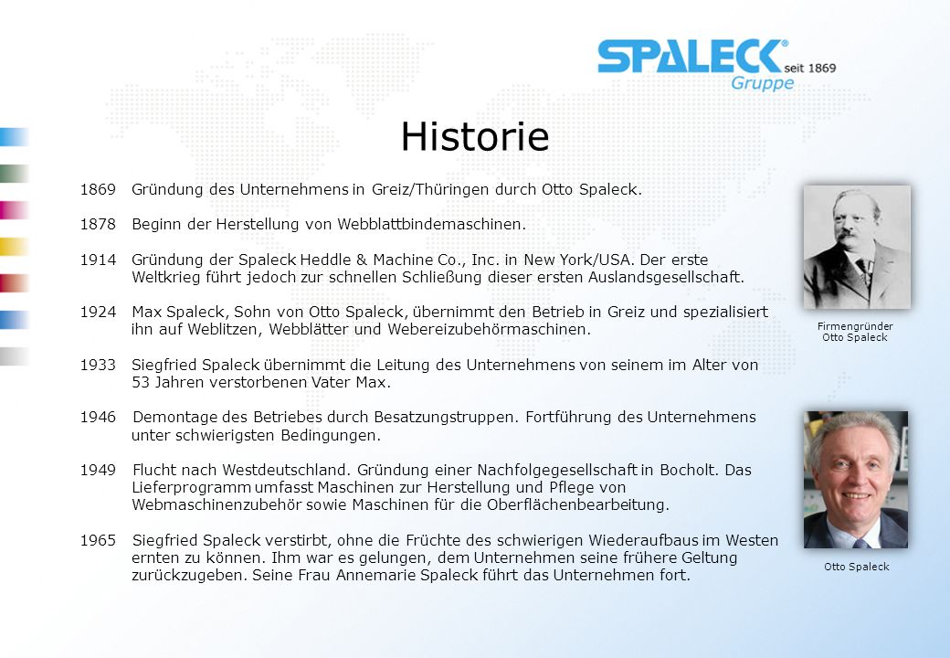 Firmengründer Otto Spaleck