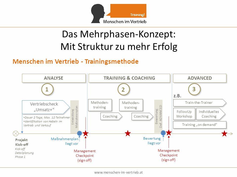 Das Mehrphasen-Konzept: Mit Struktur zu mehr Erfolg