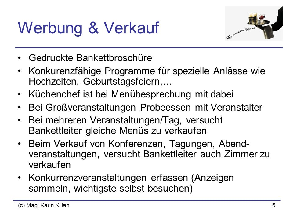 Werbung & Verkauf Gedruckte Bankettbroschüre