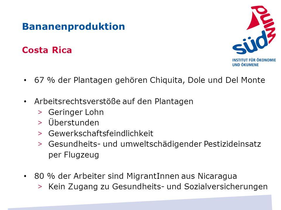 Bananenproduktion Costa Rica