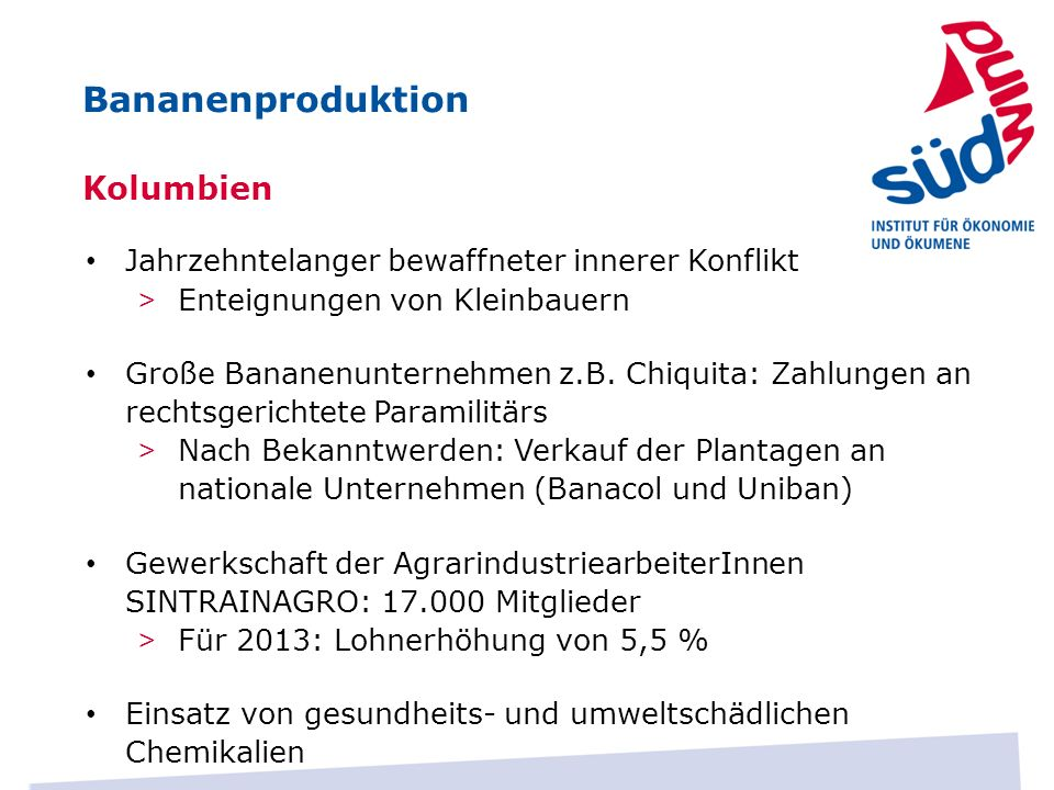 Bananenproduktion Kolumbien