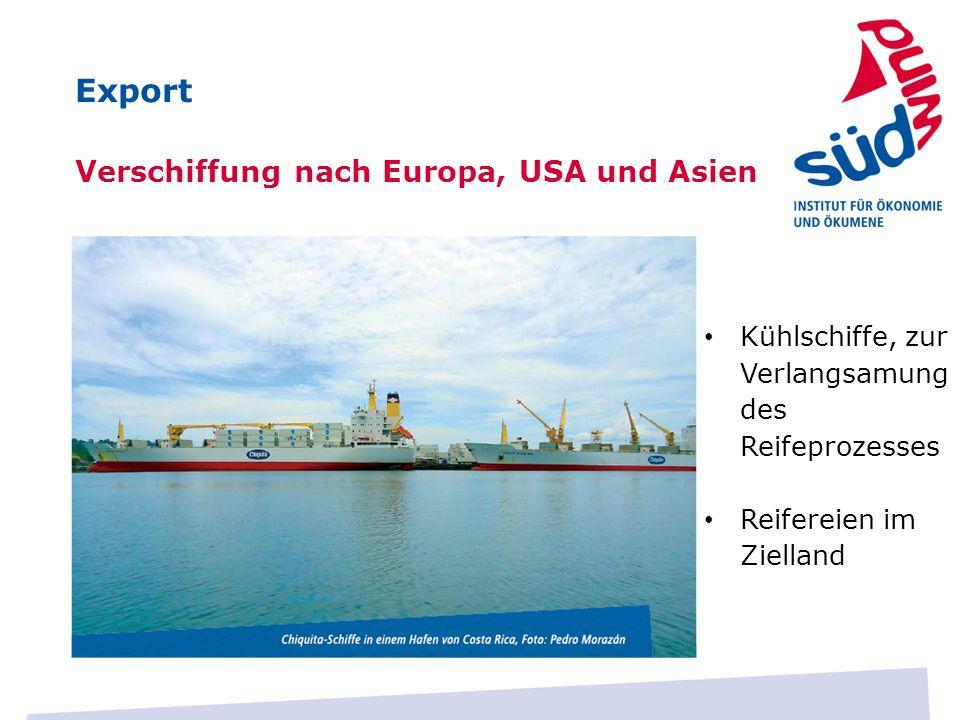 Export Verschiffung nach Europa, USA und Asien