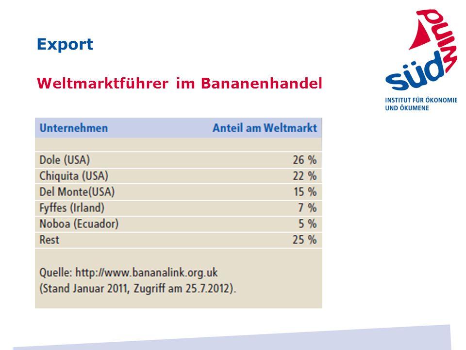 Export Weltmarktführer im Bananenhandel