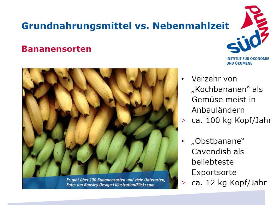 Grundnahrungsmittel vs. Nebenmahlzeit