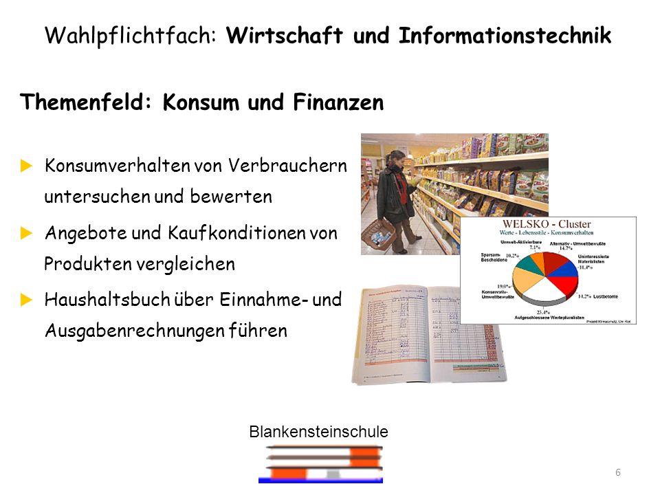 Wahlpflichtfach: Wirtschaft und Informationstechnik