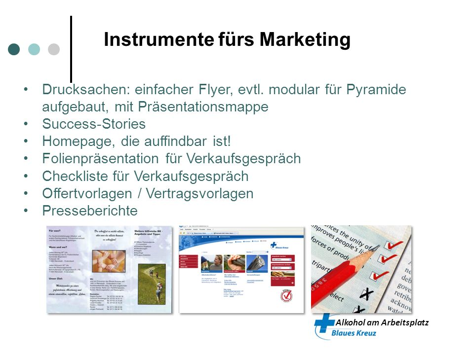 Instrumente fürs Marketing
