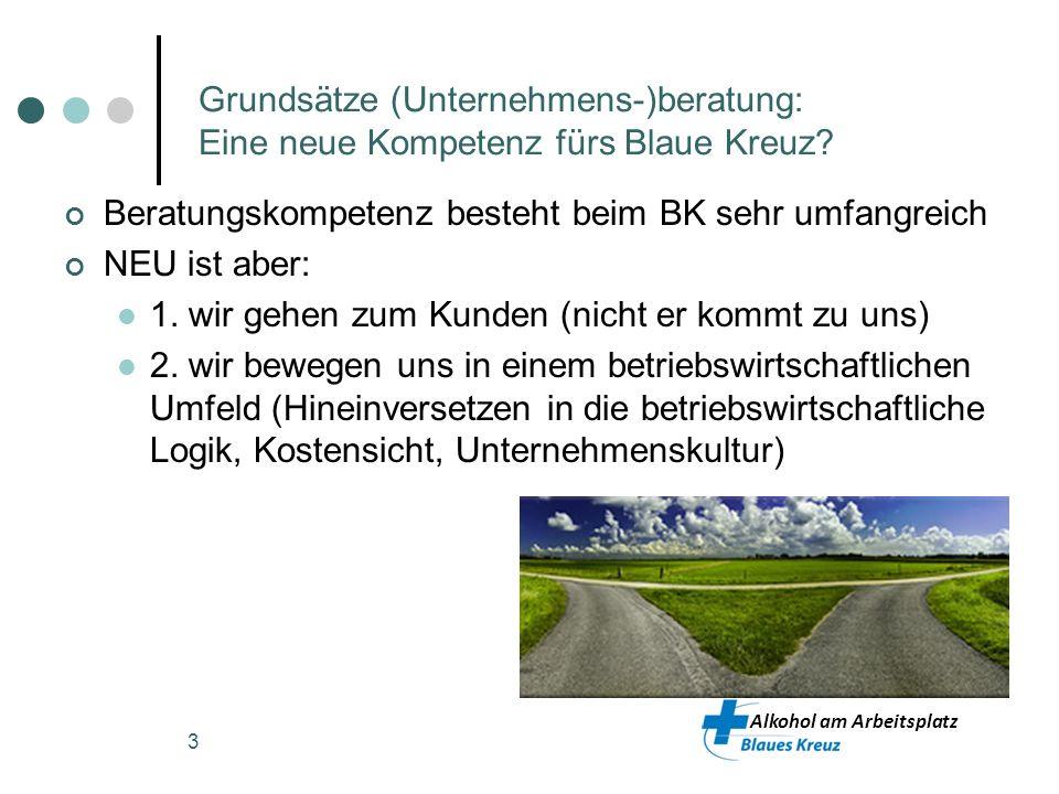 Grundsätze (Unternehmens-)beratung: Eine neue Kompetenz fürs Blaue Kreuz
