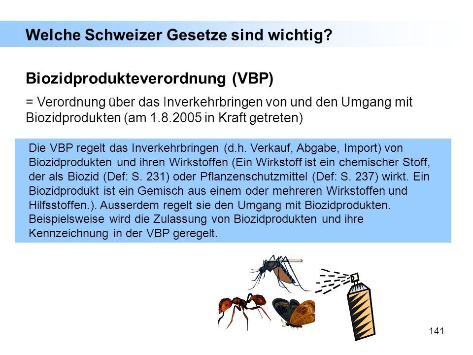 Welche Schweizer Gesetze sind wichtig
