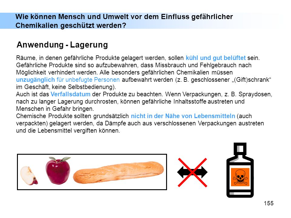 Wie können Mensch und Umwelt vor dem Einfluss gefährlicher Chemikalien geschützt werden