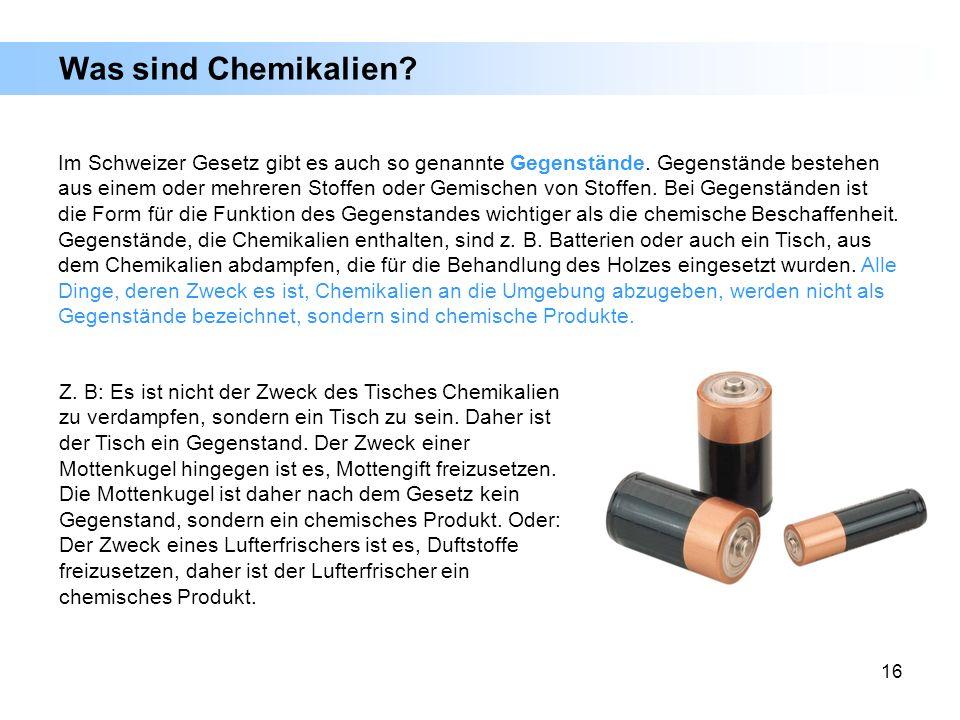 Was sind Chemikalien