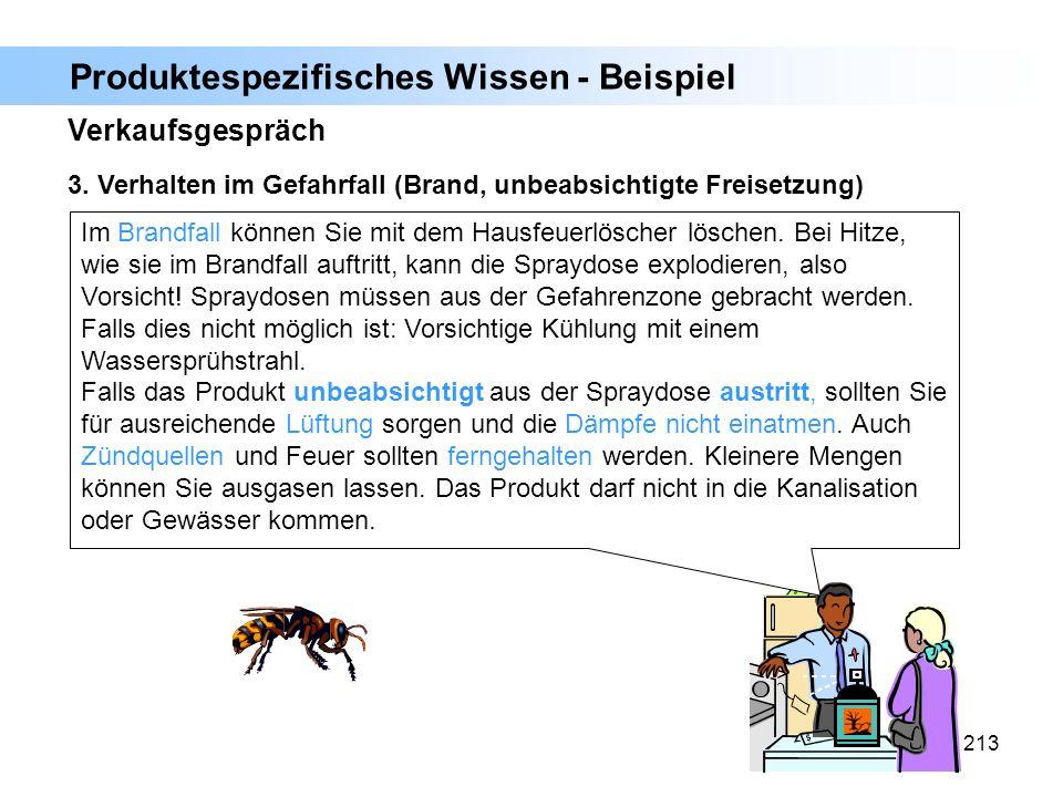 Produktespezifisches Wissen - Beispiel