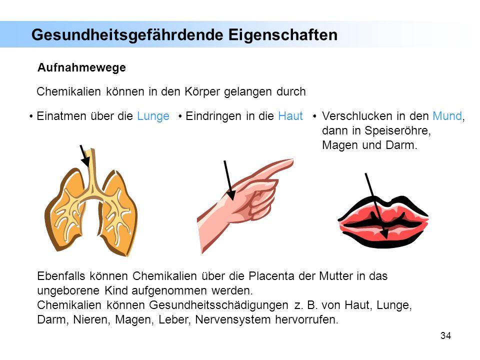 Gesundheitsgefährdende Eigenschaften
