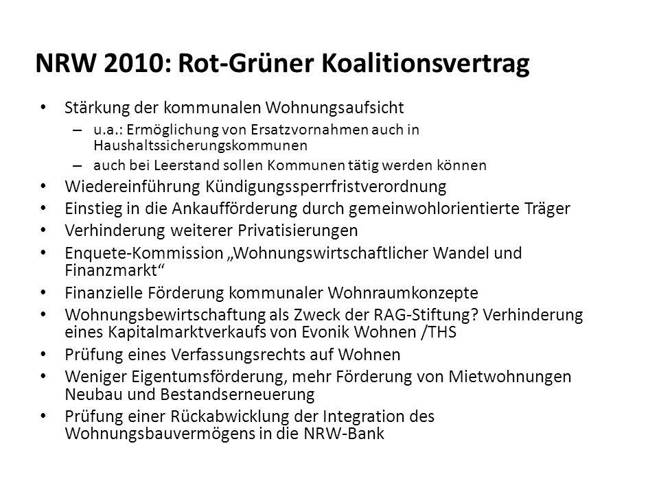NRW 2010: Rot-Grüner Koalitionsvertrag