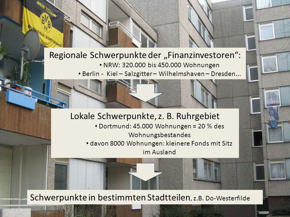 """Regionale Schwerpunkte der """"Finanzinvestoren :"""