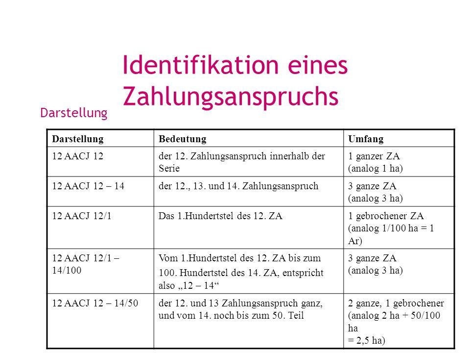 Identifikation eines Zahlungsanspruchs
